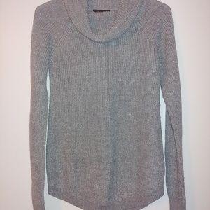 BCX Sparkly Gray Turtleneck Sweater